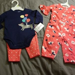 2 Carter's 3 month Outfits